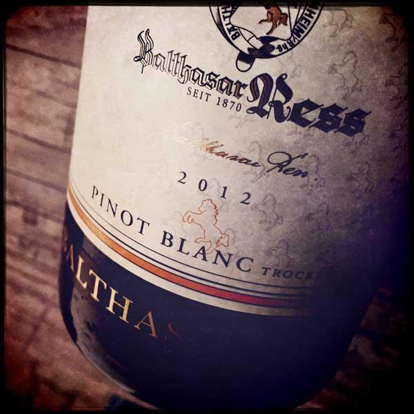 Balthasar Ress Pinot Blanc 2012