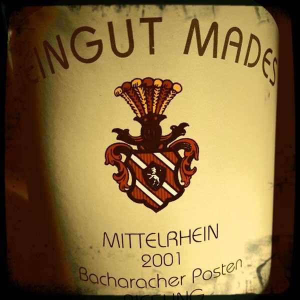 Weingut Mades Bacharacher Posten 2001 Spätlese Trocken