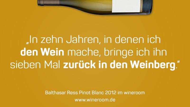Der Wein, der sieben von zehn Mal zurück in den Wingert geht