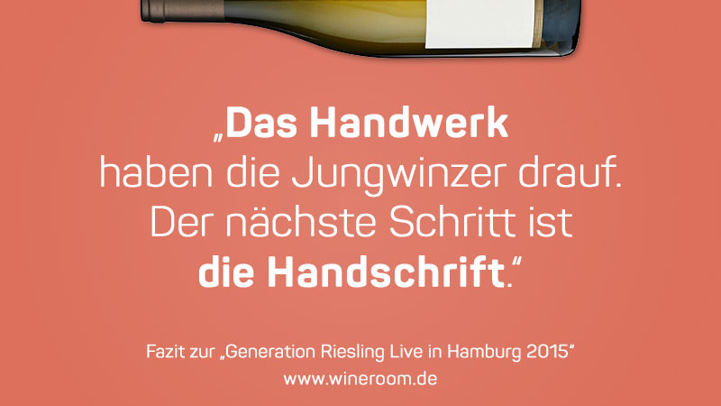 Generation Riesling, Hamburg, August 2015