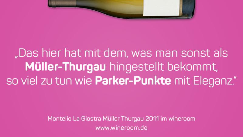 Bewertung zum Müller Thurgau La Giostra 2011 von Montelio