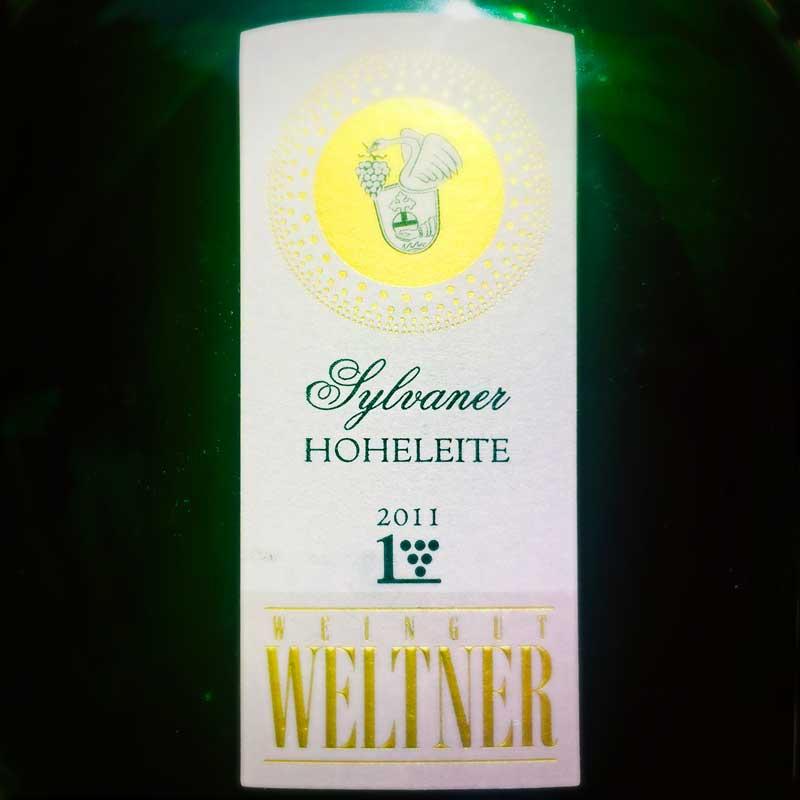 Weltner Sylvaner Hoheleite 2011