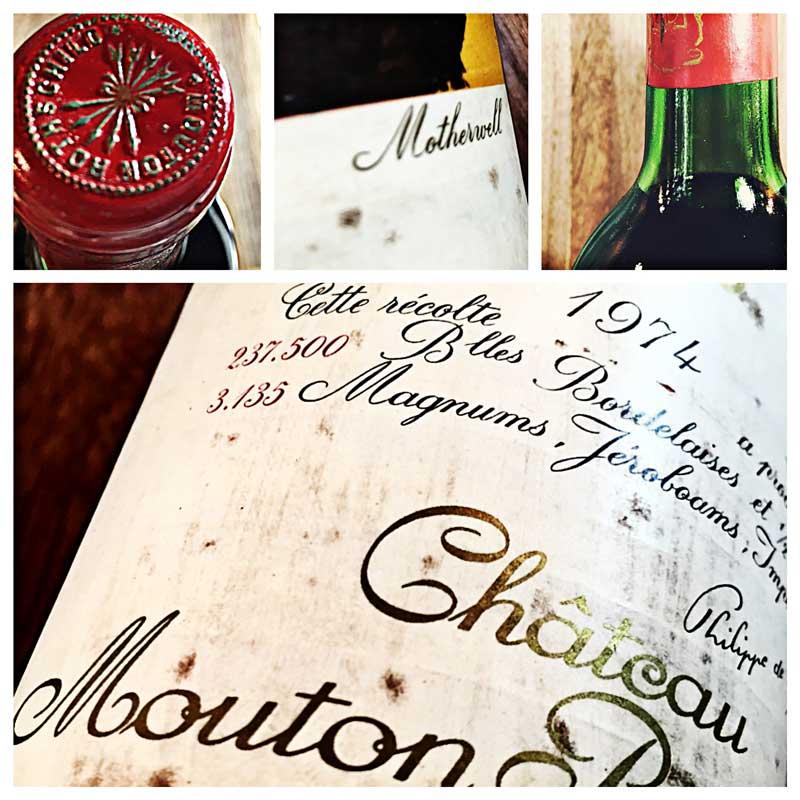 Mouton Rothschild 1974
