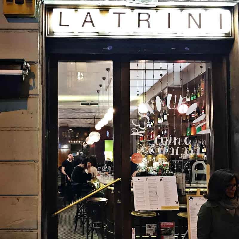Tapas Bar La Trini in Gracia Barcelona
