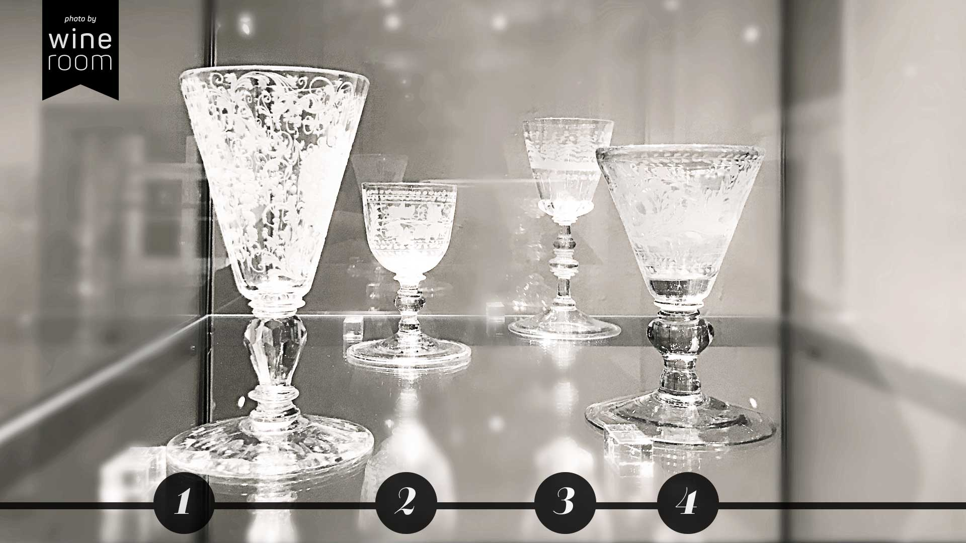 Weingläser aus 4 Jahrhunderten Sammlung Christian Jentsch: Gläser mit Glasschnitt und Glasschliff