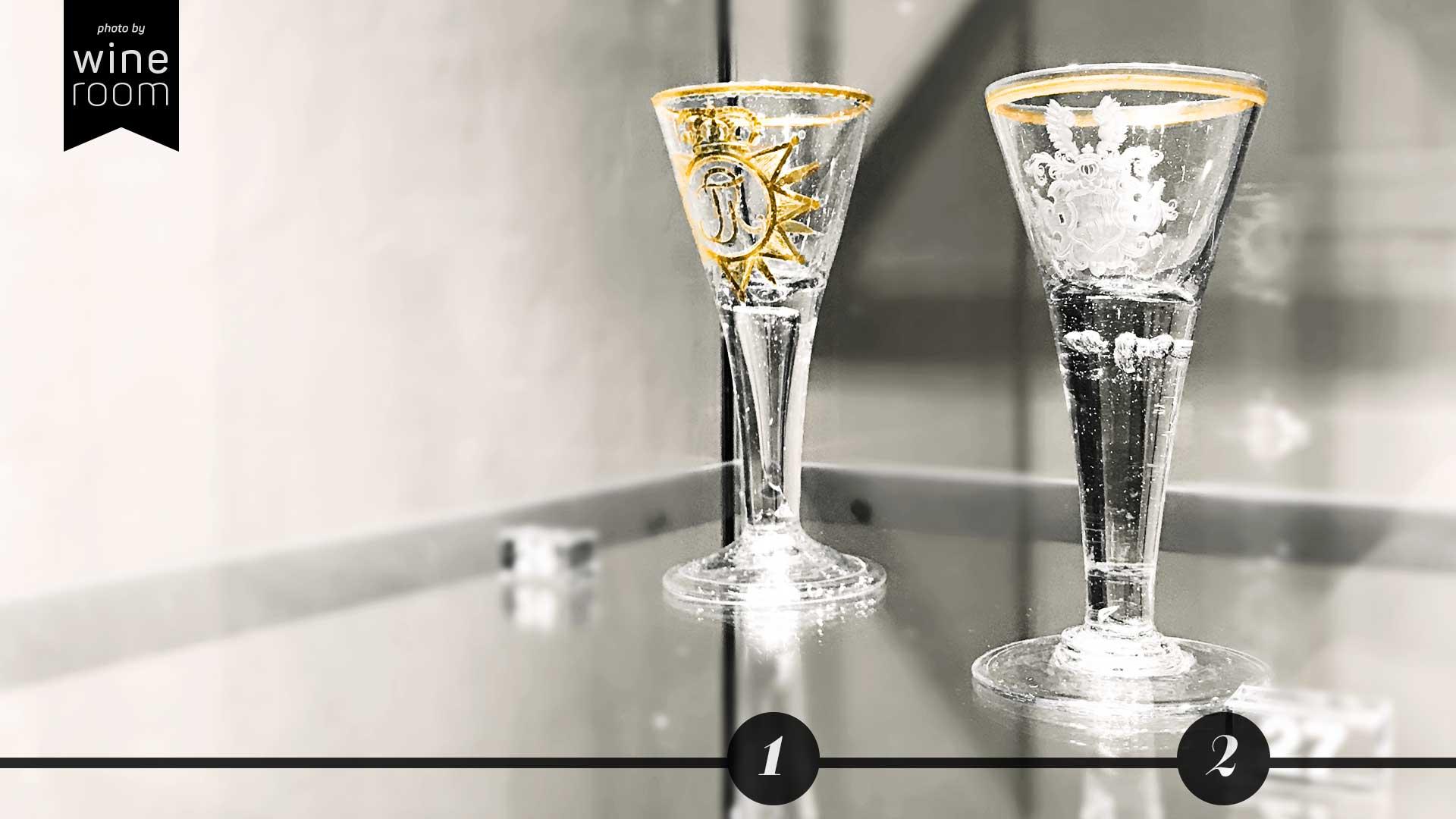 Weingläser aus 4 Jahrhunderten Sammlung Christian Jentsch: Glas für Friedrich von Schweden und die Grafen Kinski