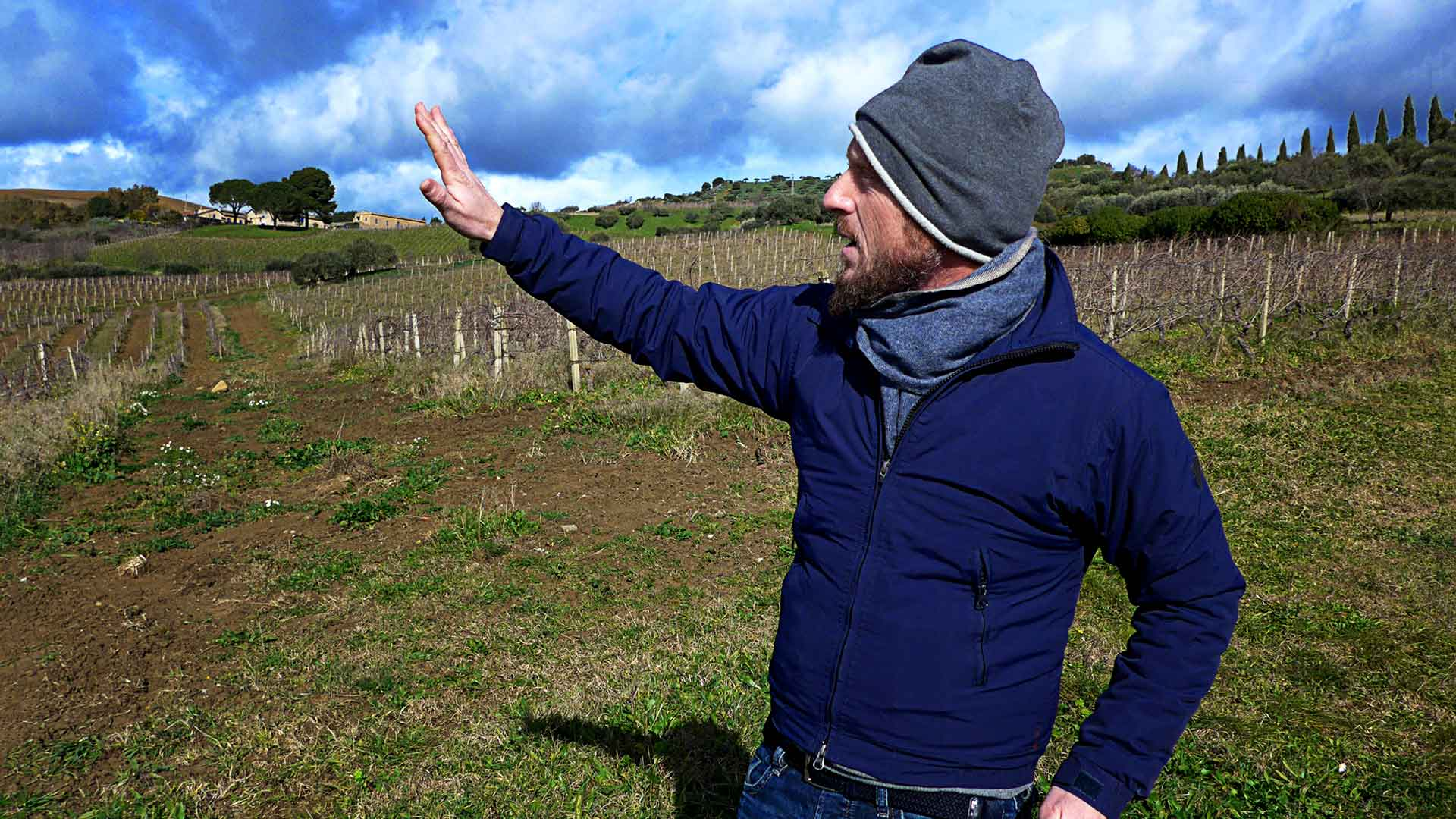 Brand Manager Corrado Maurigi from Tenuta Regaleali explaining the terroir