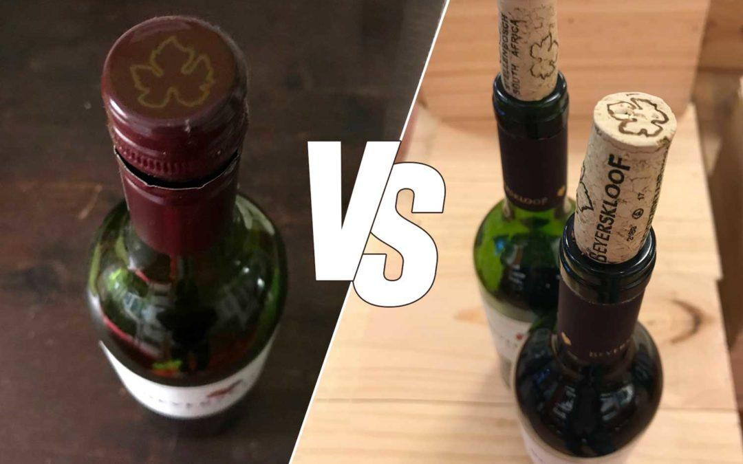 Schraube versus Naturkork – Selbstversuch mit einem normalen Rotwein