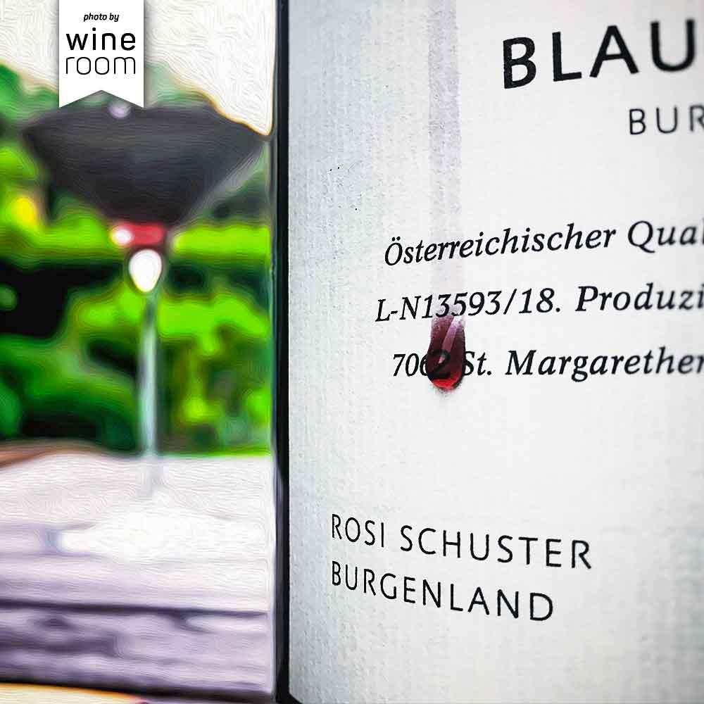 Flasche Blaufränkisch 2017 vom Weingut Rosi Schuster