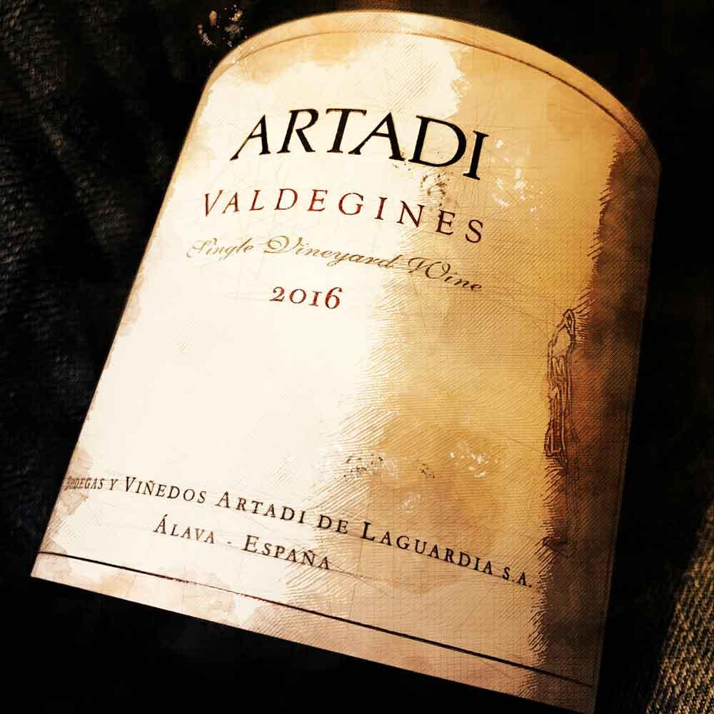 Etikett des Artadi Valdegines 2016